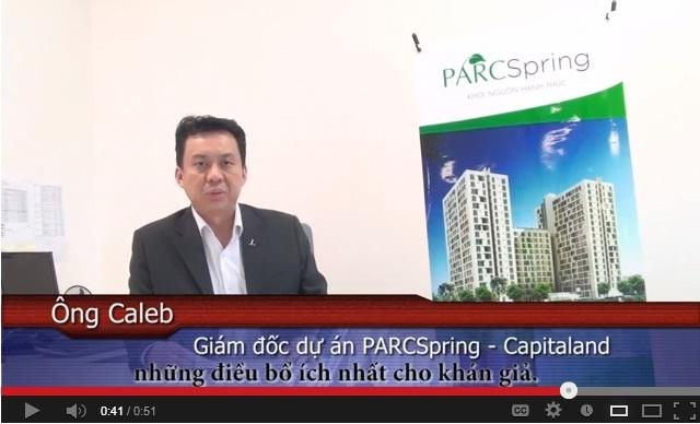 Video Cảm nhận – Ông Caleb Lau –  Giám đốc dự án PARCSpring – Capitaland