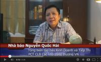 Video – Cảm nhận Tổng biên tập báo Kinh doanh tiếp thị – Nhà Báo Quốc Hải