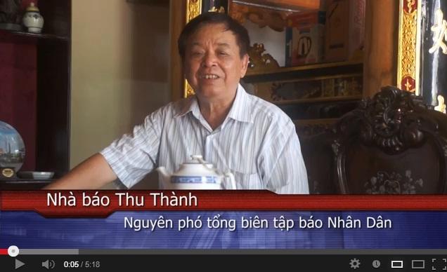 Video Cảm nhận – Nhà báo Thu Thành –  Nguyên Phó tổng biên tập báo Nhân Dân