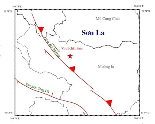 Dự báo- chứng nghiệm 2014: Động đất ở khu Tây Bắc
